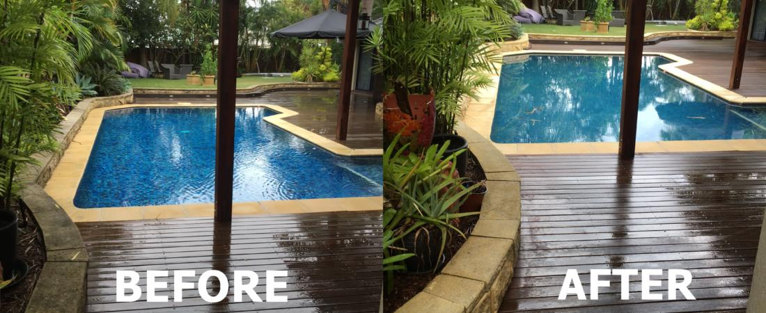 Pool Surrounds - Before, After